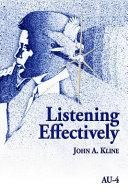 Pdf Listening Effectively