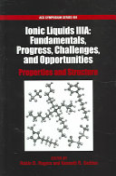 Ionic Liquids III Book
