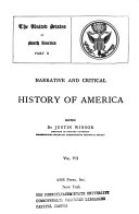 Narrative and Critical History of America  The United States of North America Book