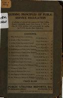 Guiding Principles of Public Service Regulation