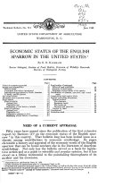 Pdf Economic Status of the English Sparrow in the United States