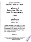 Assessment of the Forensic Sciences Profession Book