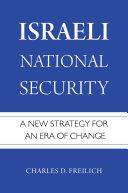 Israeli National Security Pdf/ePub eBook
