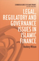 Legal  Regulatory and Governance Issues in Islamic Finance