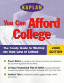 You Can Afford College 2000