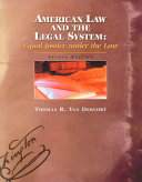 American Law and the Legal System