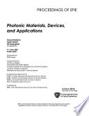 Photonic Materials, Devices, and Applications