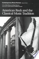 American Rock and the Classical Music Tradition