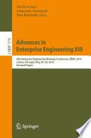 Advances in Enterprise Engineering XIII