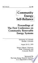 Community Energy Self-reliance