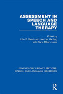 Assessment in Speech and Language Therapy