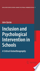 Inclusion and Psychological Intervention in Schools