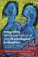 Pdf Integrating Neuropsychological and Psychological Evaluations Telecharger