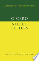 Read Online Cicero: Select Letters For Free