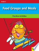 Food Groups and Meals Book