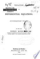 Treatise on Differential Equations
