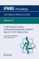 V Latin American Congress on Biomedical Engineering CLAIB 2011 May 16-21, 2011, Habana, Cuba