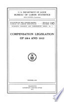 Compensation Legislation Of 1914 And 1915 October 1915