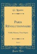 Paris Révolutionnaire, Vol. 1