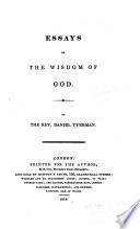 Essays on the Wisdom of God