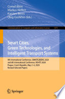 Smart Cities  Green Technologies  and Intelligent Transport Systems Book
