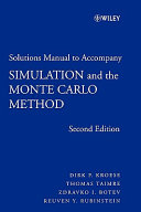 Student Solutions Manual To Accompany Simulation And The Monte Carlo Method