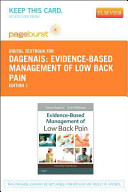 Evidence Based Management of Low Back Pain