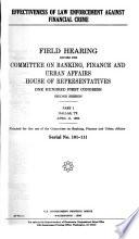 Effectiveness of Law Enforcement Against Financial Crime Book