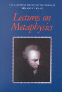 Lectures on Metaphysics