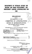 Departments of Veterans Affairs and Housing and Urban Development, and Independent Agencies Appropriations for 1993: National Science Foundation, Office of Science and Technology Policy