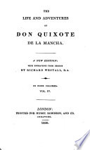 The Life And Adventures Of Don Quixote De La Mancha By M De Cervantes Saavedra Transl