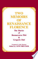 Two Memoirs Of Renaissance Florence