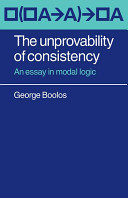 The Unprovability of Consistency Book