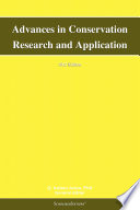 Advances in Conservation Research and Application  2012 Edition
