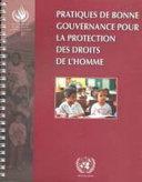 Pratiques de bonne gouvernance pour la protection des droits de l'homme