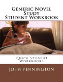 Generic Novel Study Student Workbook