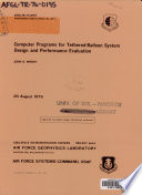 Computer Programs for Tethered balloon System Design and Performance Evaluation