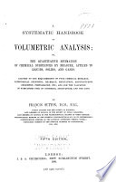 A Systematic Handbook of Volumetric Analysis