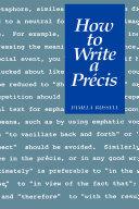 How to Write a Précis Pdf/ePub eBook