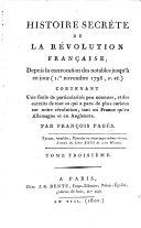Histoire Secrète De La Révolution Françoise
