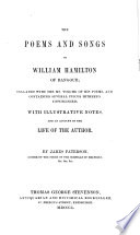 The Poems and Songs of William Hamilton of Bangour