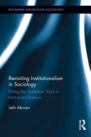 Revisiting Institutionalism in Sociology