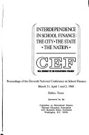 Proceedings of the National Conference on School Finance