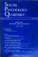Social Psychology Quarterly Book