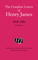 The Complete Letters of Henry James  1878 1880