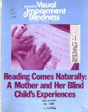 Journal of Visual Impairment   Blindness Book