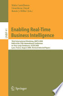Enabling Real Time Business Intelligence Book PDF