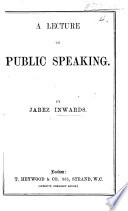 A Lecture On Public Speaking Book PDF