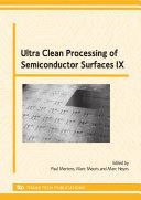 Pdf Ultra Clean Processing of Semiconductor Surfaces IX Telecharger