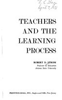 Teachers and the Learning Process